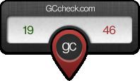 Überprüfe dein Ergebnis bei GCcheck.com